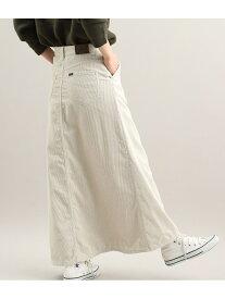 ViS 【Lee×ViS】コーデュロイロングスカート ビス スカート スカートその他 ホワイト ベージュ【送料無料】