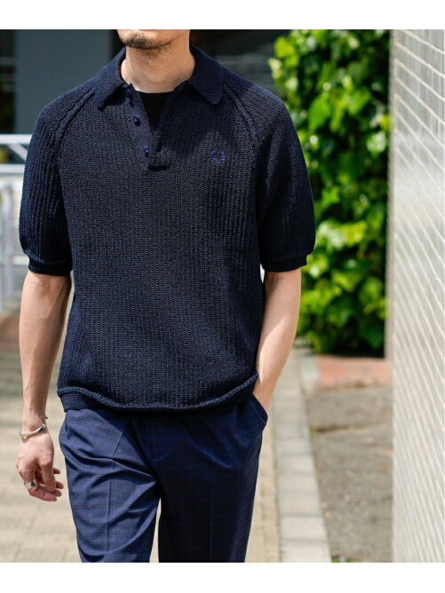 FRED PERRY EX イージーケア リネンライクニットポロシャツ