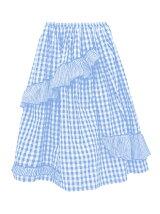 frill volume skirt