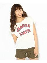 ロゴプリントフレンチスリーブTシャツ