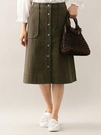 【SALE/44%OFF】TO BE CHIC コットンデニムスカート トゥー ビー シック スカート【RBA_S】【RBA_E】【送料無料】