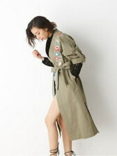 FLORAL LEI MILITARY GOWN
