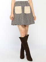 Dukkah/(L)フロッキードットファーポケスカート