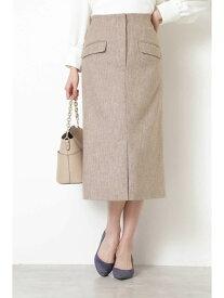 NATURAL BEAUTY BASIC ミックスフランネルスカート ナチュラルビューティベーシック スカート スカートその他 ブラウン ベージュ【送料無料】