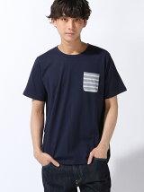 BEAMS / ボーダー ポケットTシャツ