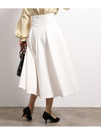 ROPE' Wスポンディッシュフレアースカート ロペ スカート スカートその他 ホワイト ブラック【送料無料】