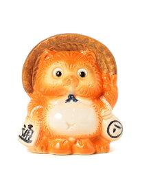 BEAMS JAPAN BEAMS JAPAN / 別注 信楽焼 たぬき 貯金箱 ビームスジャパン ビームス ジャパン その他 その他 オレンジ ネイビー