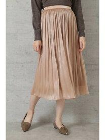 NATURAL BEAUTY BASIC [洗える]シャイニーシアーギャザースカート ナチュラルビューティベーシック スカート スカートその他 ベージュ ホワイト ブルー【送料無料】