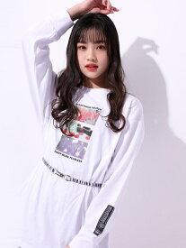 【SALE/50%OFF】ZIDDY ムービープリント ビッグシルエット Tシャツ(130~160cm) ベベ オンライン ストア カットソー Tシャツ ホワイト ブラック グリーン