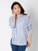 【WEB限定大きいサイズ】ワイドドロップショルダーシャツ