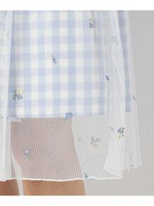 petitフローラルギンガム スカート