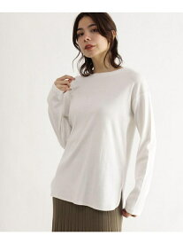 OZOC [洗える]リブレイヤードプルオーバー オゾック カットソー Tシャツ ホワイト