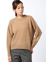 ex.fine wool crew neck knit