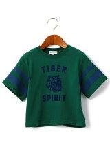 【キッズ】タイガープリント ビッグ Tシャツ ショートスリーブ
