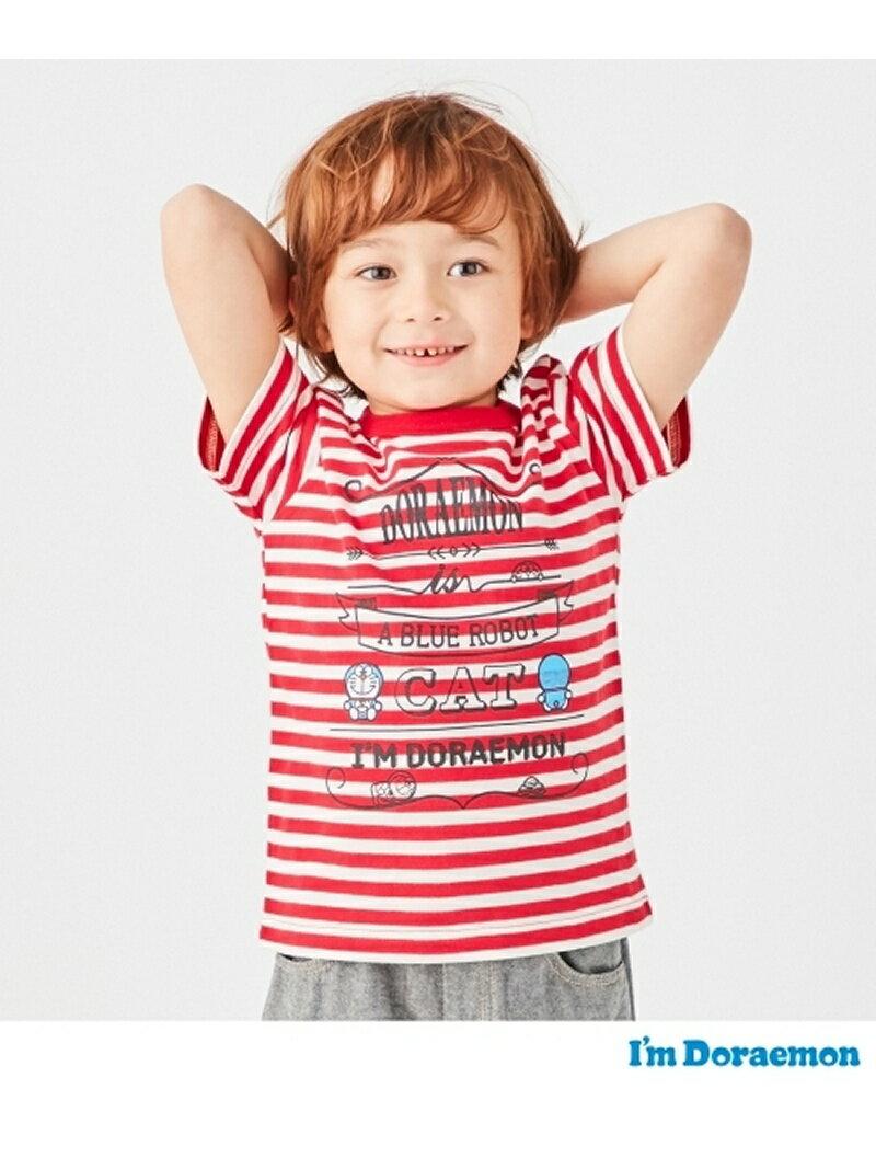 【SALE/40%OFF】HusHusH(Kids) 【ドラえもん】ボーダー×プリントTシャツ ハッシュアッシュ カットソー【RBA_S】【RBA_E】