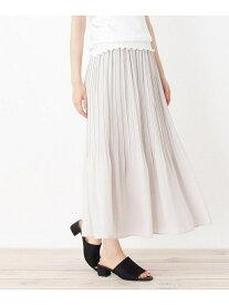 【SALE/29%OFF】grove プリーツデザインスカート グローブ スカート ロングスカート ブラウン ピンク ブラック グリーン