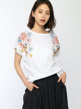 フラワープリントビックTシャツ