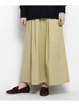 ベルテッドチノロングスカート