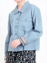 袖柄テープミリタリーシャツ
