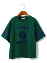 【ジュニア】タイガープリント ビッグ Tシャツ ショートスリーブ