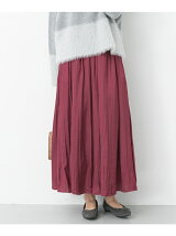 割繊サテンマキシスカート