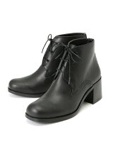 LEATHER LACE UP HARF BOOTS