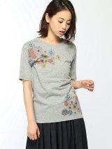 フラワープリントTシャツ