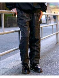 BEAMS MEN GRAMICCI × BEAMS / 別注 チェック ユーティリティ パンツ ビームス メン パンツ/ジーンズ フルレングス ブラック ブラウン グレー【送料無料】