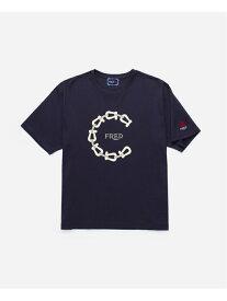 FRED FRED X CLOT TEE-SHIRT フレッド カットソー Tシャツ ネイビー【送料無料】