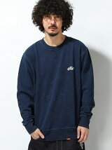 WASH DENIM SWEAT CREW