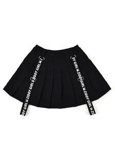 ZIDDY 【店舗限定別注】サスペンダー プリーツ インナーパンツ付き スカート(130~160cm) ベベ オンライン ストア スカート ロングスカート ブラック パープル