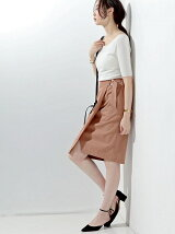 □UBCE ベルト ラップスカート