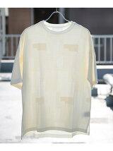 URBAN RESEARCH iD パッチワークジャカードドルマンTシャツ