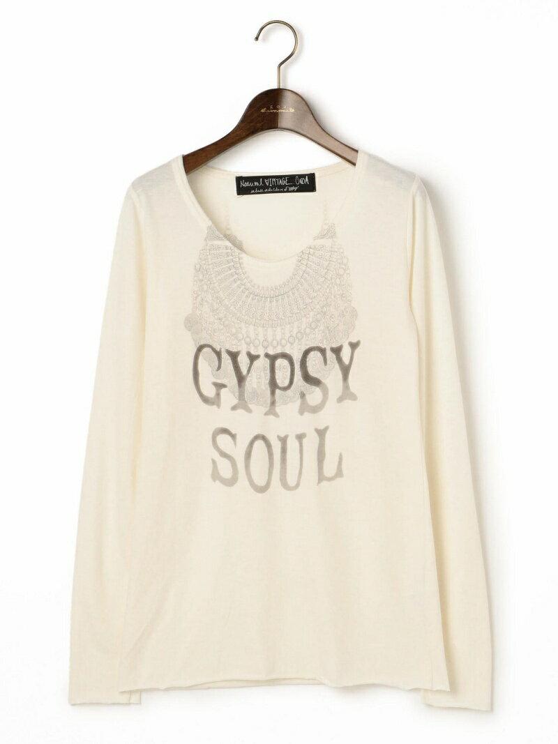 goa テトロン×コットン起毛GYPSY NECKLACEプリントロングTシャツ【送料無料】
