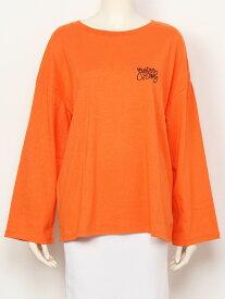 【SALE/43%OFF】Rodeo Crowns THICC Girl ロング Tシャツ ロデオクラウンズワイドボウル カットソー Tシャツ オレンジ ベージュ ホワイト