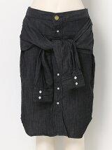 レイヤードシャツスカート