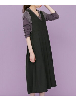KBF BIGプリーツジャンパースカート ケービーエフ ワンピース【送料無料】