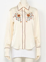 Embroidery Satin Shirts