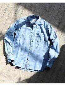 BEAMS MEN BEAMS / カラーネップ ボタンダウン シャツ ビームス メン シャツ/ブラウス 長袖シャツ ブルー ネイビー ホワイト【送料無料】
