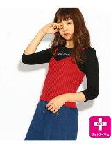 ★ニコラ掲載★ラメキャミ×ハートロゴTセット