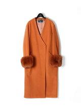 FOXカフスビーバーコート