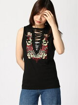 (W)ROXXY GRAPHIC LACE-UP TANK