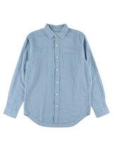 Men's リネンコットン 長袖レギュラーシャツ
