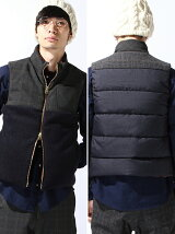 mix glen check down vest