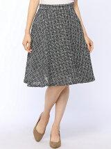 ツイードフレアスカート