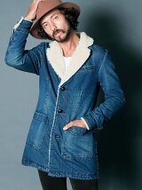 DENIM BOA QUILTING COAT
