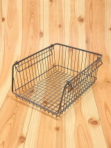 WIRESTORAGEOPENBASKETA4M/グレー