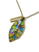 rehacer:Stained glass Leaf Necklace