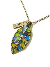 rehacer rehacer:Stained glass Leaf Necklace レアセル アクセサリー
