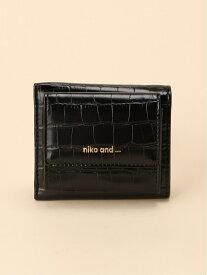 【SALE/34%OFF】niko and... (W)ORマイクロミニサイフ ニコアンド 財布/小物 財布 ブラック ブラウン ベージュ グリーン パープル